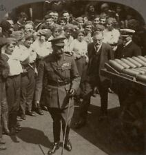 His Majesty Inspects Shells at Holmes & Co. Munitions Ltd, Hull. WW1 Stereoview.