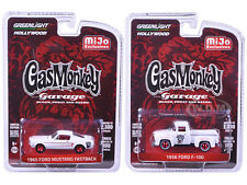 1956 FORD F-100 & 1965 MUSTANG FASTBACK GAS MONKEY GARAGE 1/64 GREENLIGHT 51119