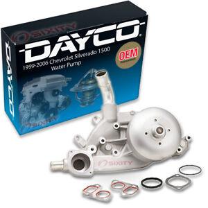Dayco Engine Water Pump for 1999-2006 Chevrolet Silverado 1500 4.8L 5.3L ns