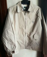 BOSSINI MEN'S WATER REPELLANT ZIP UP LOGO JACKET, BEIGE SIZE MEDIUM