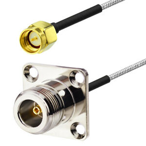 RG405 SMA Male to N Type Flange Female M/F RF Coax Adapter Jumper Pigtail Cable