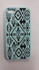 Victoria's Secret PINK Aztec IPhone 5 5S  Soft Rubber Case Cover Light Blue