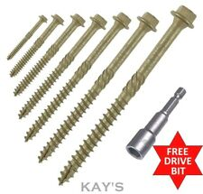HEX HEAD LANDSCAPE SCREWS SLEEPER DECKING FIXING TIMBERFIX TIMBERLOK IN-DEX TYPE