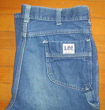 Vtg LEE Carpenter Blue Jean Denim Work Pant Union USA Talon SZ 36 Actual W34 L35