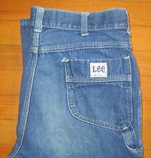 Vtg LEE Carpenter Blue Jean Denim Work Pant Size 36 Union USA Talon Actual 34x35