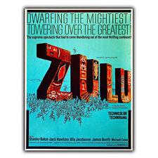ZULU 1964-Metallo Segno Piastra a Parete Pellicola Film Poster Cinema Lobby annuncio stampa