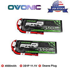 Two 4500mAh 3S1P 11.1V 50C 100C RC Lipo Battery Deans Plug For Heli Airplane Car