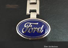 Ford Keyring Chain Car Logo Badge Key Ring Polished Metal Plate Gift AU