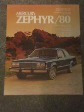 MERCURY Zephyr 1980 USA delle vendite sul mercato opuscolo in ottime condizioni