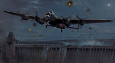 Bomber Command 617 Sq Lancaster print Operation Chastise signed by 2 Dambusters