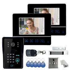 """7"""" LCD Video Door Phone DoorBell Intercom System IR Camera + Magnetic Door Lock"""