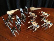 LOT of 10 Star Wars Hot Wheels Mattel Diecast Starship Vehicles