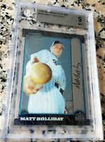MATT HOLLIDAY 1999 Bowman Chrome Rookie Card RC BGS 9 MINT NY Yankees 313 HRs