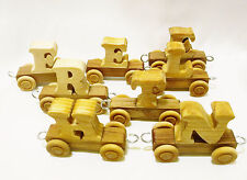 Letters-E(3)/R/L/T/H/N Vehicles Train-Set 8 Wooden Push & Play Toys-3+ Years