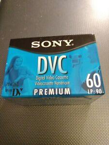 Sony DVC 60 LP90 Premium Bundle of 3 New Sealed Digital Video Tapes