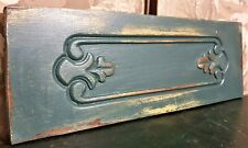 Scroll leaf decorative carving pediment Antique french architectural salvage