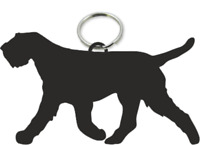 Italian Spinone Dog Key Ring Fob