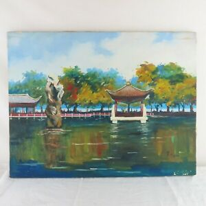 1974 Chinese Oil / Canvas Signed Made in People's Republic of China Shenyang
