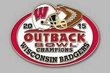 Official 2015 Outback Bowl Champions Collectible Pin Wisconsin Badgers
