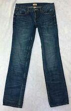 """GAP Slim Boyfriend Jeans Medium Wash Distressed Size 6/28 R 32"""" Inseam"""