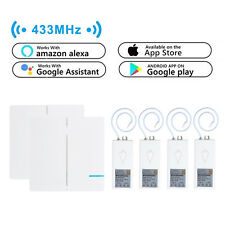 2x 2-Way Wireless Wall Switch+4x Smart WIFI Receiver Remote Control Google Alexa