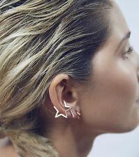 *UK SELLER* Gold Star Ear Cuff Minimalist Earring Clip On