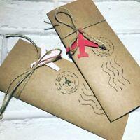 Handmade personalised passport boarding pass wedding invitations free envelopes