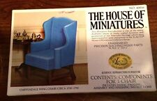 1/12 CHIPPENDALE WING CHAIR KIT #40016 HOUSE OF MINIATURES OPEN COMPLETE