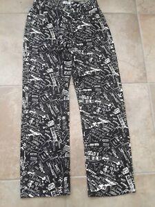 MOSCHINO Mens Crazy Print Graffiti Jeans Black & White Vintage (w30)