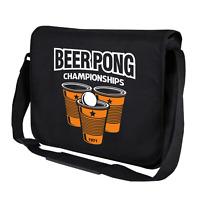 BEER PONG Championships Party Retro Bier Comedy Spaß Umhängetasche Messenger Bag