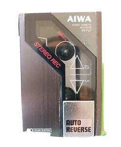 """Rare AIWA HS-F07 Auto-Reverse Stereo Cassette Recorder-""""McFly """" Walkman. AS IS"""