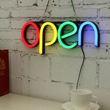 Open Sign LED Light Tube Handmade Visual Artwork Bar Club Wall Decoration