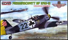 KORA Models 1/72 MESSERSCHMITT Bf-109G-10 Croatian Fighter with REPLICA MEDAL