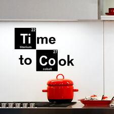 Tiempo Para Cocinar Adhesivo de Pared Romper Malo Decorativo w199