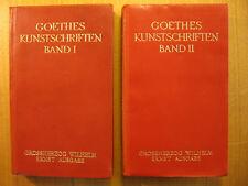 Goethes Kunstschriften 1 + 2 / Ganzleder Leder Goethe