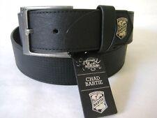 ARMOURDILLO Belt Bartie Leather Chad Bartie Black Split Leather NWT Size L Mens