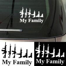 My Gun Family Bumper Sticker Window Hot Funny Laptop Car Truck Decal Vinyl