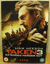 TAKEN 3 starring Liam Neeson EXTENDED HARDER CUT - Sealed NEW DVD 2015