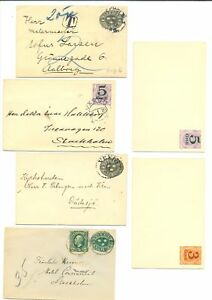 SWEDEN 6 x PS COVER ( 4 x USED ) ---F/VF