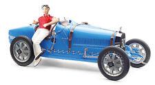 1:18 CMC Bugatti T35 blue w/female pilot figurine M-100B-018