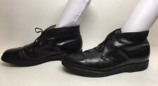 MENS UNBRANDED CHUKKA WORK BLACK BOOTS SIZE 11.5 D