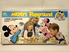 Golden Disney Mickey's Playground Board Game 1988 gm883