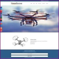 """Fully Stocked Dropshipping FLYING DRONES Website Store. """"300 Hits A Day"""""""