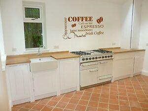 Coffee kitchen home dining room vinyl wall art sticker lounge