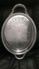 Silver Plated Oval Serving Platter #105