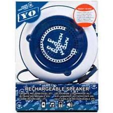 Yo Portable Rechargable Mp3 Player Speakers White Blue