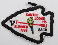 OA Lodge 116 Santee eA1993-2, Fdl; Summer Fellowship; 55th ANN [D1762]