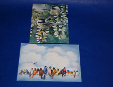 """#90010 CHICKADEES 5"""" X 7"""" BLANK GREETING CARDS & ENVELOPES PACK OF FOUR"""