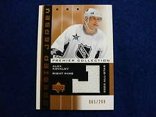 2003 UD Premier Alex Kovalev jersey card   Penguins  65 of 299   jsy  gu