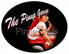 Pinup Girl Waterslide Decal Sticker Repairing Car Sexy Heels and Stockings S737